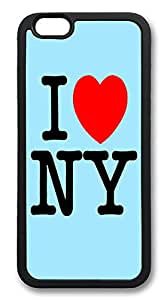 "ICORER iPhone 6 Plus Case 5.5"" I Love Ny Best TPU Case Cover for Apple iPhone 6 Plus Black"