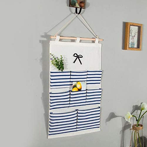 gfjfghfjfh Multifunktions-Wandbehang Aufbewahrungstasche Baumwolle und Leinen Türschrank Hängende Organizer Tasche Socken Unterwäsche Sortiertasche