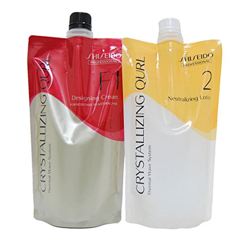 Shiseido Crystallizing Qurl F1 Hair Wave Perm Chemicals Neutralizing Lotion 400ML each (Pack of set)