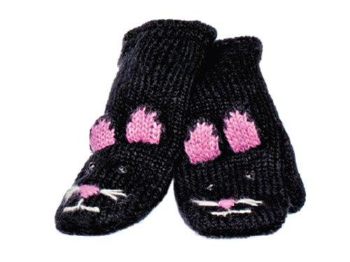 Knitwits Kids - Cute Sock Monkey Mittens - Grey - Kids Size - Ages 3-7