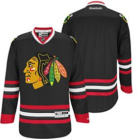 Jersey Blackhawks Black Premier