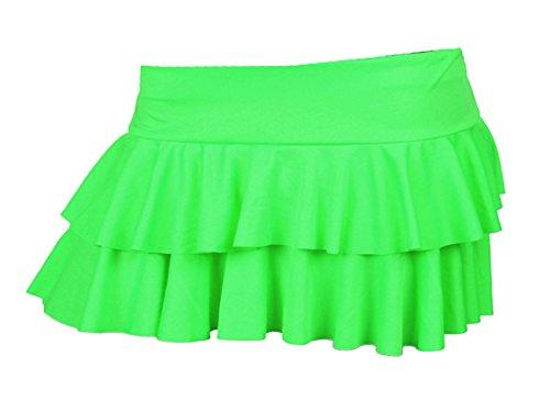 GW Fashions - Falda - para mujer verde neón