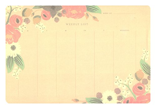 Weekly schedule form, Planner Notepad,Undated Make-A-List Desk Calendar, Easy Page Tear-Off, 50 Sheets, 10