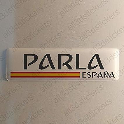 Pegatina Parla España Resina, Pegatina Relieve 3D Bandera Parla España 120x30mm Adhesivo Vinilo: Amazon.es: Coche y moto