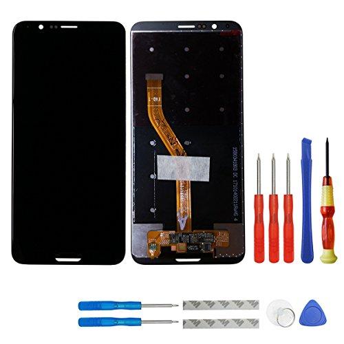 swark LCD Display Compatible Huawei Honor V10 BKL-AL00 BKL-AL20/Honor View 10 Global BKL-L09 LCD Touch Screen Display + Tools (Black)