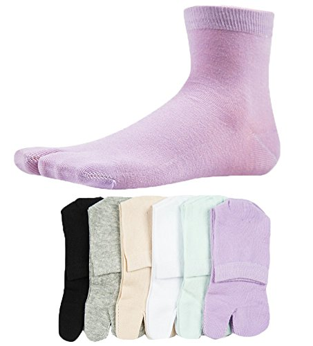 Women's Solid 2 Toe Flip Flop Tabi Socks Geta Ankle, used for sale  Delivered anywhere in USA