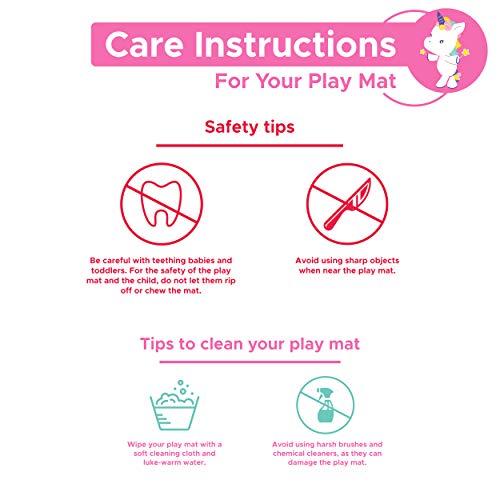 Unicorn Baby Play Mat, Reversible Baby Folding Mat, Baby Care Playmat BPA  Free, XPE Mat, Baby Crawling Mat, Non Toxic Waterproof Foam Mat, Kids,