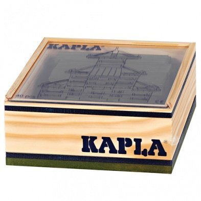 Kapla 40 Piece Wooden Block Set In Green by Kapla -  4365931