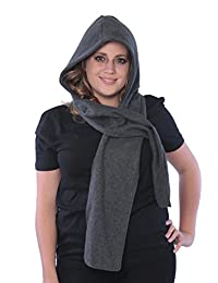 Fleece Hooded Scarf Warm & Comfortable One Size Fits Most 7 Colors 1 or 2 Pack