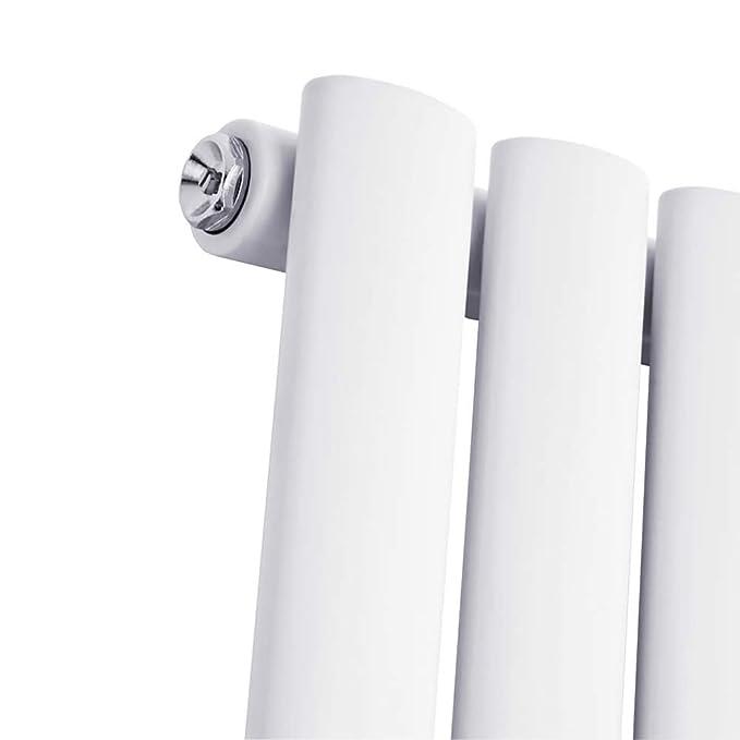 Hudson Reed Serie Revive Radiador Calentador Mural Decorativo Diseño Horizontal - Acero Blanco - 945 Vatios - 633mm x 1180mm - 20 Columnas Verticales ...