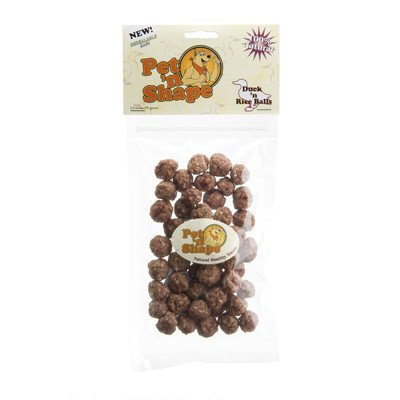 Balls Dog Treat [Set of 48] Flavor: Duck 'n Rice, Quantity: 3.5-oz by Pet 'n Shape