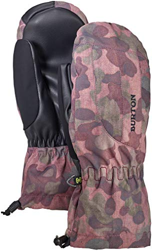 Snowboard Glove Womens Burton (Burton Women's Insulated, Warm, and Waterproof Profile Mitten with Touchscreen, Moss Camo, Small)