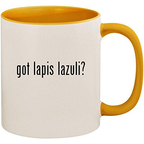 got lapis lazuli? - 11oz Ceramic Colored Inside and Handle Coffee Mug Cup, Golden Yellow