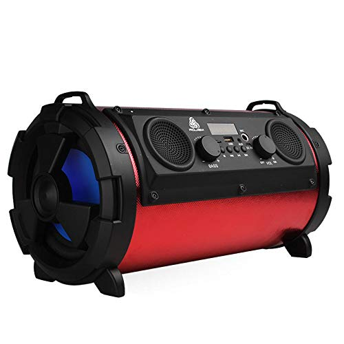 15w Woofer - Subwoofer Car Stereo - Car Stereo With Subwoofer - 15W Bluetooth Wireless Speaker Super Bass Subwoofer Stereo USB - Red (Stereo With Subwoofer)