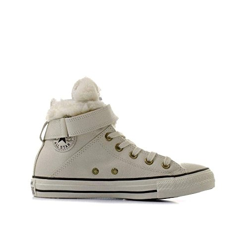 Converse Chucks CT AS Brea Leath 553394 C Nero, multicolore (Parchment/Black), 37
