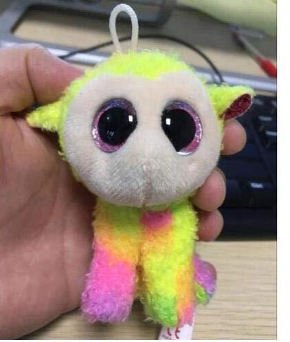 MINX Ty Beanie Boos Ojos Grandes Perro de Peluche Llavero ...