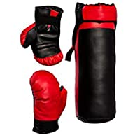FACTO POWER Red and Black Color Junior Boxing Kit