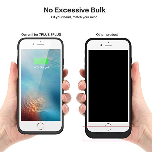 Battery Case for iPhone 6S / 6, Gixvdcu 6000mAh Rechargeable Protective Portable Charging Case for Apple iPhone 6 & 6S (4.7 Inch) Extended Charger Pack Power Bank - Black by Gixvdcu (Image #4)
