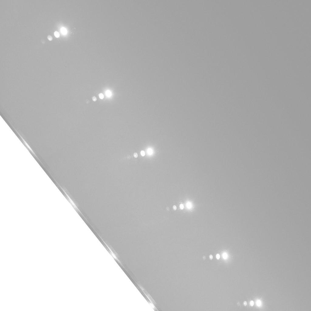 Miroir de salle de bain avec éclairage led 60 x 80 cm(l x h ...