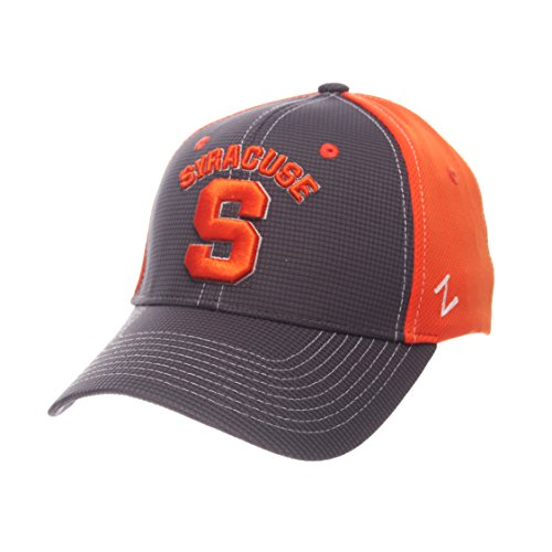 (ZHATS NCAA Syracuse Orange Adult Men Grid Cap, Medium/Large, Gray/Team Color)