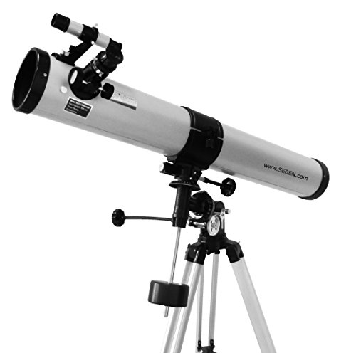 Seben 900-76 EQ2 Reflektor Teleskop inkl. Big Pack Zubehör Paket