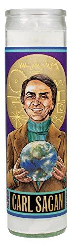 Carl Sagan Secular Saint Candle - 8.5 Inch Glass Prayer Votive -  The Unemployed Philosophers Guild, 4735