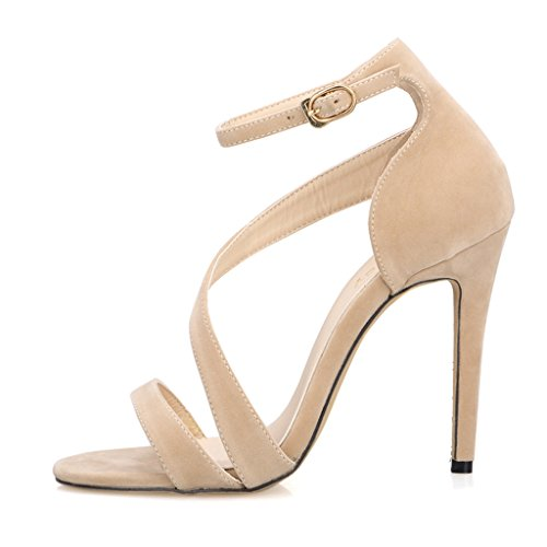 Nude Peep UK Riemchen Damen Knöchelriemen Sandalen Schuhe Größe Samt Manschette Dünne Toe 5 6 High Damen Heel 8pqxanww7