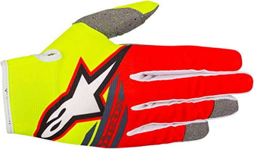 - Alpinestars Radar Flight Boy's Off-Road Gloves - Yellow/Red/Anthracite / 3X-Small