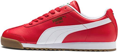 PUMA Men's Roma Basic Sneaker, high Risk red w, 8.5 M US