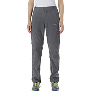 Gray Lightweight Quick Dry Pants for Women With Waterproof and Wear Resistant Fabric by Makino (Grey S)