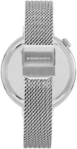 BCBGMAXAZRIA Women's Dress Sport Japanese-Quartz Watch with Stainless-Steel Strap, Silver, 13.2 (Model: BG50906001)