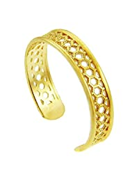 Yellow Gold Chainmill Toe Ring (10K Gold)