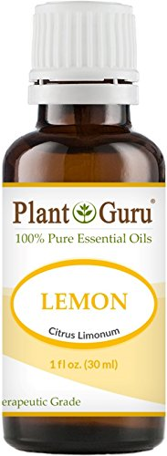 Lemon Essential Oil 1 oz / 30 ml 100% Pure Undiluted Therapeutic Grade Cold Pressed From Fresh Lemon Peel, Great for Aromatherapy Diffuser, Relaxation and Calming, Natural Cleaner.