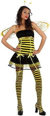 Atosa - Disfraz de abeja para mujer, talla 38-40 (10410)