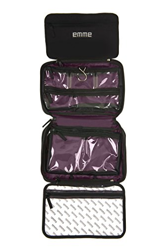 4103fd247cd EMME Original - Hanging Compartmentalized Cosmetic and Toiletry Bag for  Organized Travel