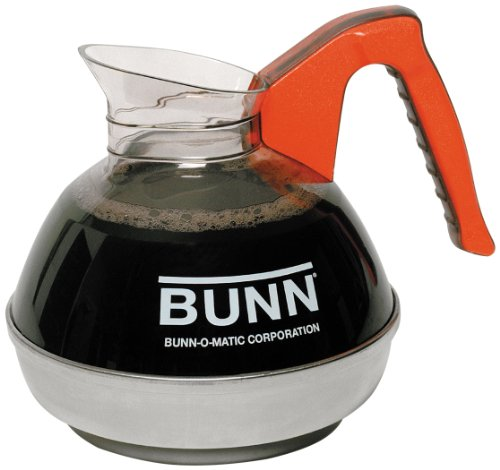 - BUNN 6101.0101 Easy Pour Commercial 12-Cup Decaf Coffee Decanter, Orange