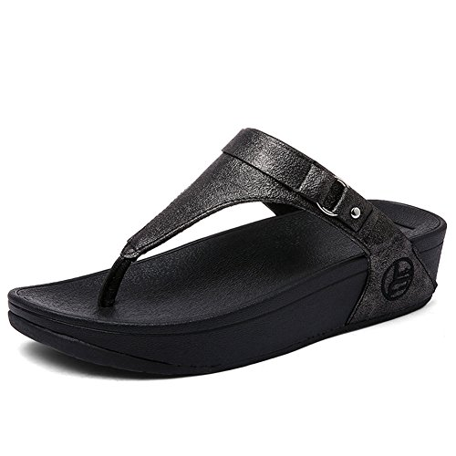 Augmenter En Zhang2 Sandales Flexibles Plein Glissement 5 5 Mode De 38 uk55eu38 Uk Plage Amorti Air Pantoufles Chaussures Eu Noir rqfwvq5X