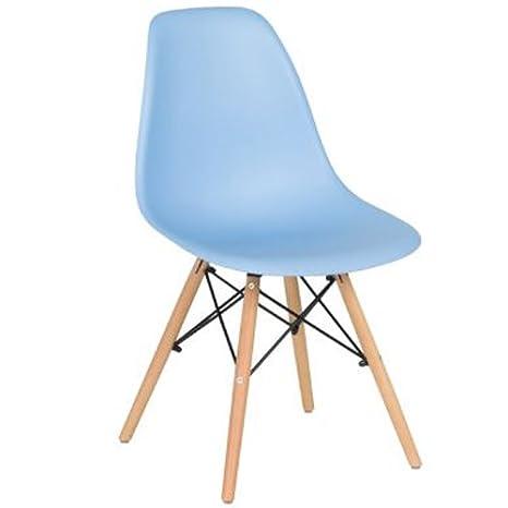Varie Sedia polipropilene e legno per cucina, sedie design colorate ...