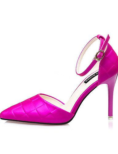 Plata tacones us6 tac¨®n Zapatos Cn39 Eu39 Uk6 us8 tacones 5 5 Purple Stiletto Purple Uk4 Fucsia seda De casual Eu37 Mujer 5 7 negro Cn37 Morado Zq dPwXHxH