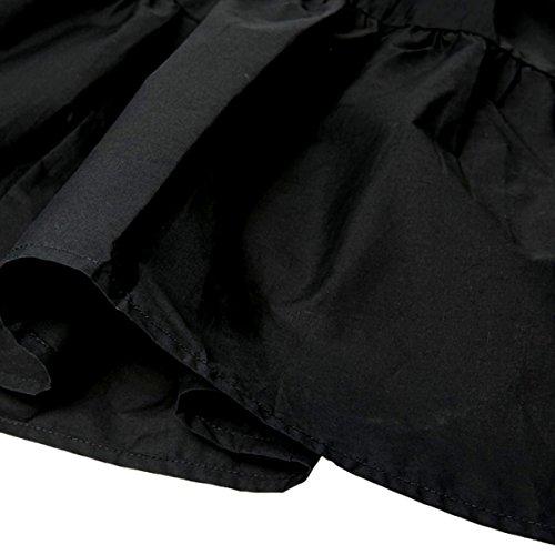 Patineuse Casual Haute Noir Mi Genoux Au Taille En Jupe Plissé Abby longue Femme Polyester 8PT6nY