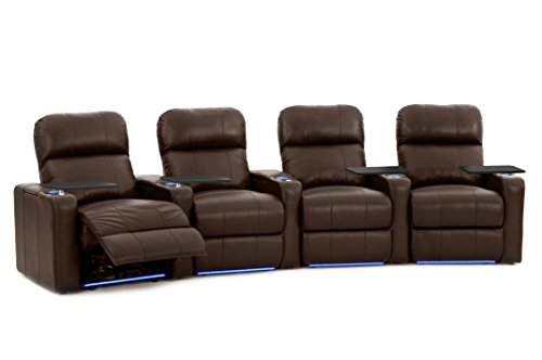 Octane Seating Turbo XL700 Home Theater Power Recline – Lighted Cup Holders & Baserail – Row 4 Curved – Storage Arms – Memory Foam For Sale