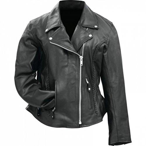Genuine Buffalo Leather Motorcycle Jacket - 5