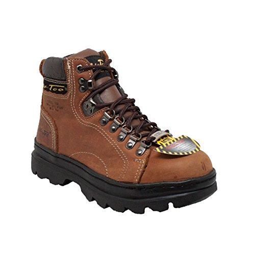 """AdTec Women's 6 Inch Steel Toe Work Boot, Brown, 8 M US Women's 6"""" Steel Toe Work Boot Brown-W"""