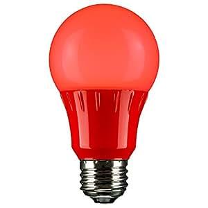 Sunlite 80148 Red LED A19 3 Watt Medium Base 120 Volt UL Listed LED Light Bulb, last 25,000 Hours