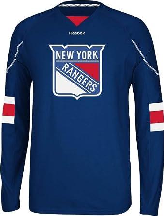 ... Small Amazon.com NHL New York Rangers Mens Edge Long Sleeve Jersey Tee  Sports Fan T ... abb6f8cf1