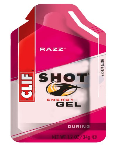 Clif Shot Gel Razz, 1.2-Ounce Pouches, 24-Count