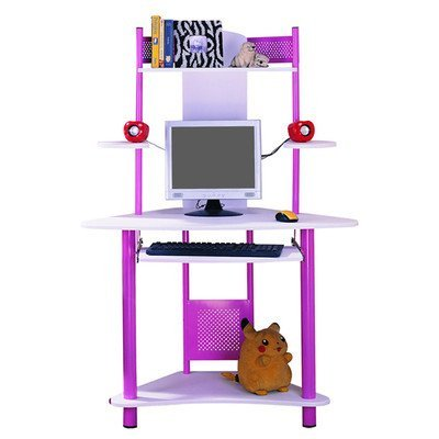 Computer Desk with Keyboard Tray Finish: Pink by InRoom Designs
