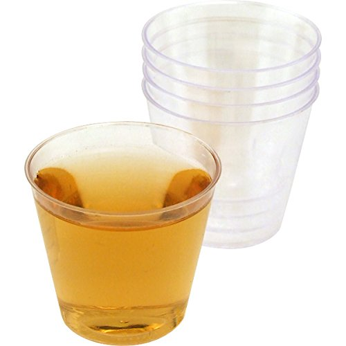 One Ounce Plastic Liquor Shot Cups: Case of 2500 by Royal Plasticware