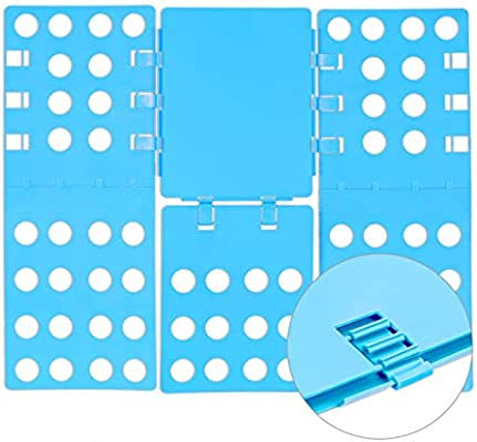 Relaxdays Doblador Ropa Plegable, 4ª Generación, Plegador Camisetas, Camisas, PP, 0,2 x 57 x 68 cm, Azul: Amazon.es: Hogar