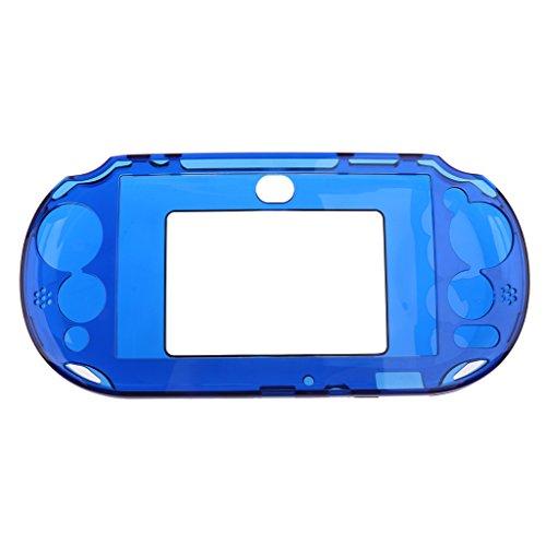 Jili Online Crystal Plastic Protective Shockproof Case Skin Protector for Sony PSV2000 Blue (Protective Psp Crystal Cover)